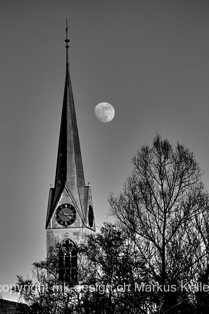 Mond   Vollmond   Bauwerk   Kirche/Dom