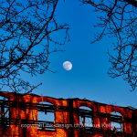 Mond   Vollmond   Bauwerk   Ruine