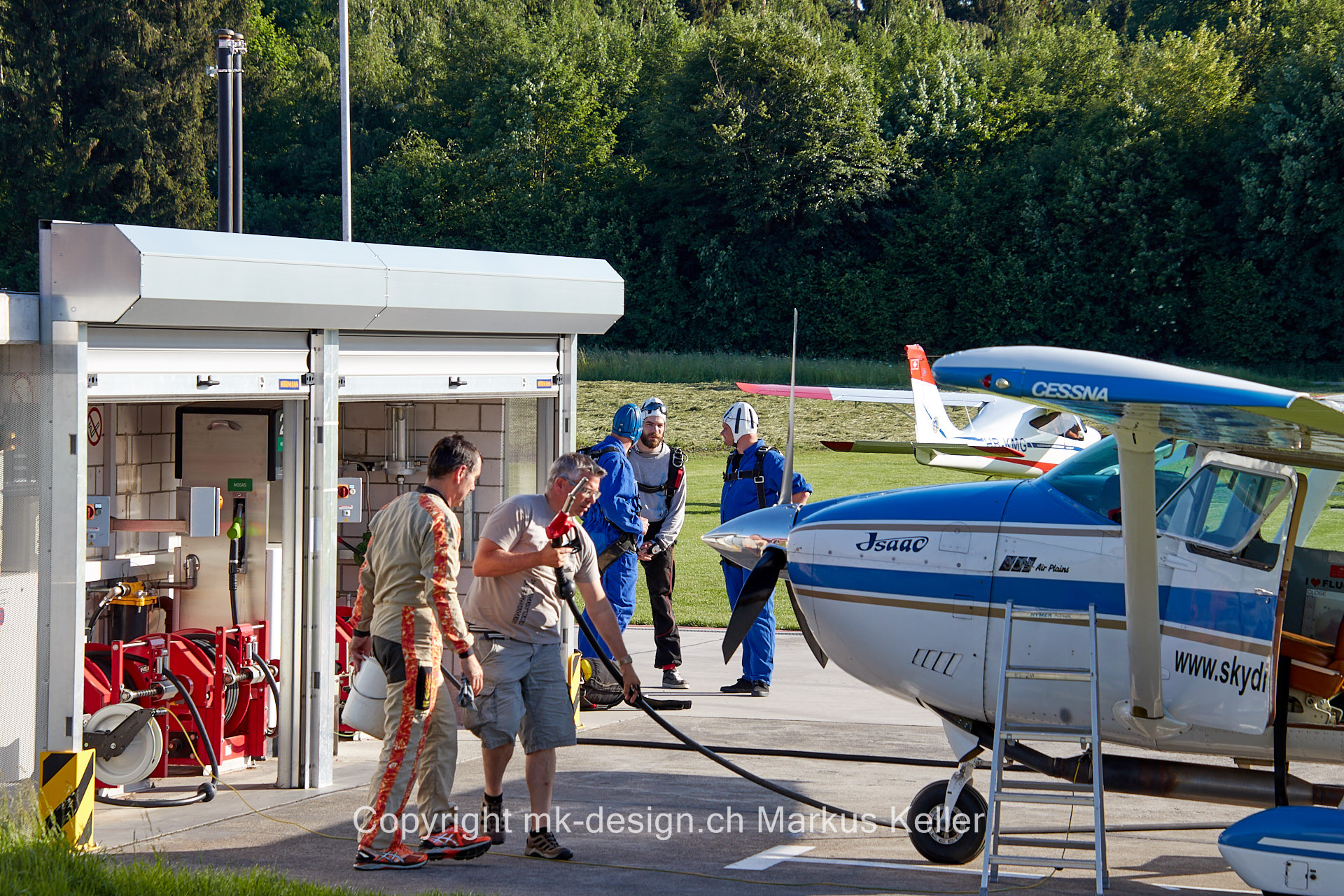 Flugzeug   Mensch   Gruppe   Cessna