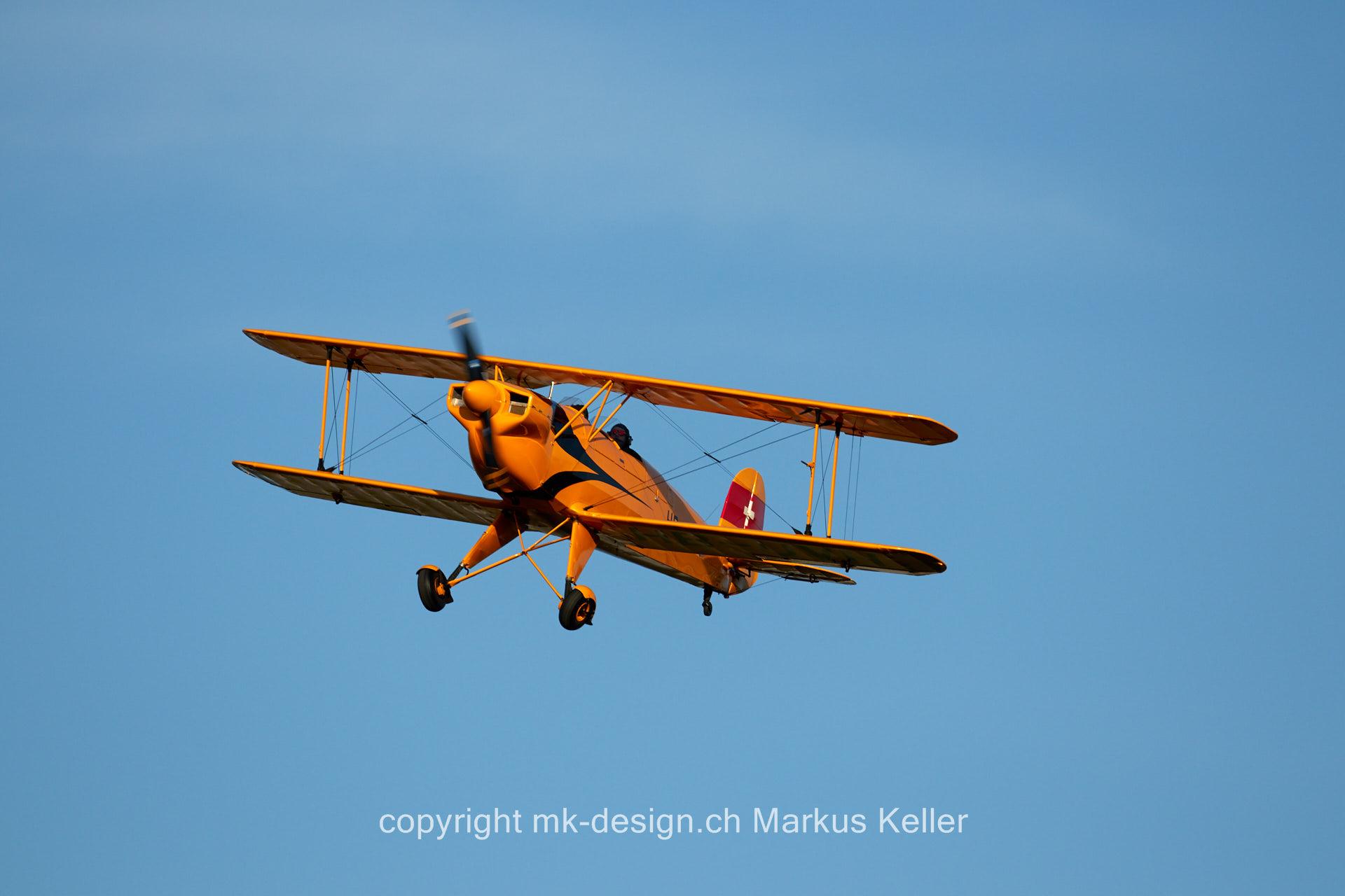 Flugzeug   Bücker Jungmann HB-UVH