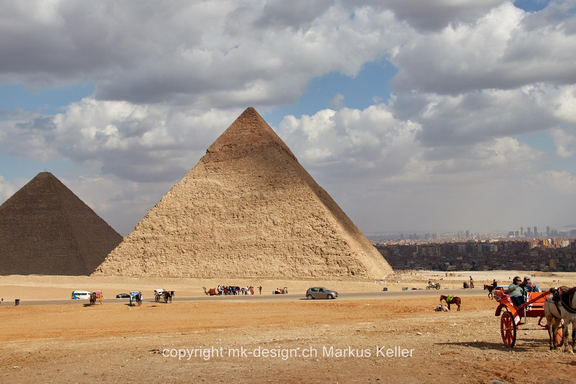 Bauwerk   Pyramide   Cheops   Chephren