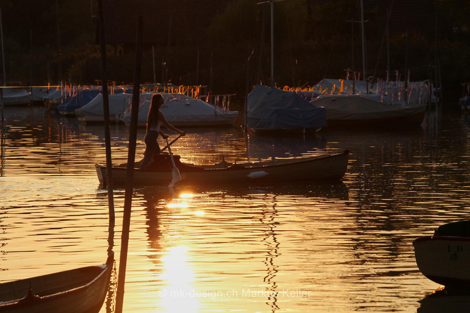 See   Pfäffikersee   Mensch   Sonne   Sonnenuntergang