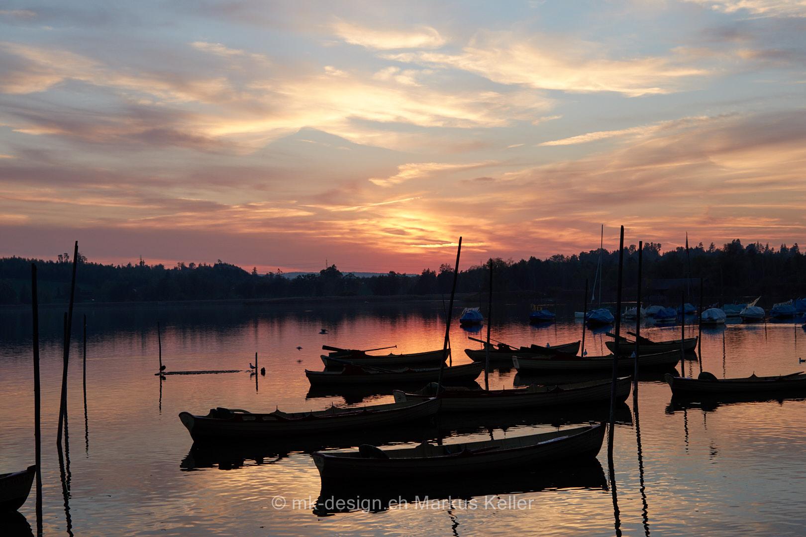 See   Pfäffikersee   Sonne   Sonnenuntergang